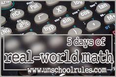 homeschoolmath, realworld math, homeschool math, unschool math, homeschool idea