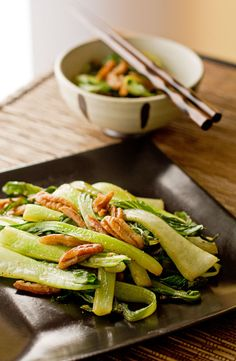 Bok Choy with Pecans and Lemongrass @mjskitchen