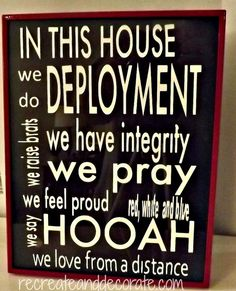Army~In this house decal by decaldecorandmore on Etsy, $15.00
