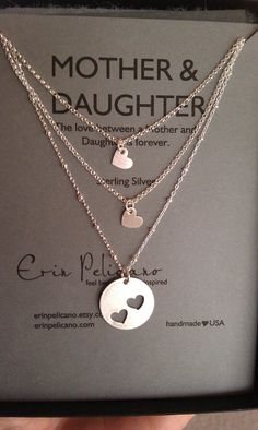 Mother daughters necklace