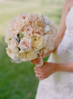 Romantic Mixed Bouquet ~ Photography by kateheadley.com, Floral Design by hollychappleflowers.com