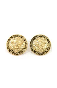 Lion Shield Earrings by ROIAL