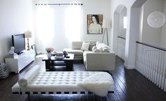 I am obsessed with black and white. I think it just looks so chic with the addition of pops of color.