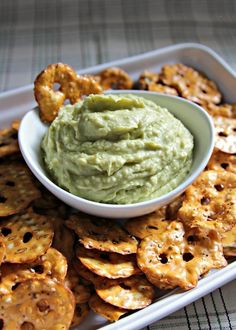 » Avocado Hummus – just avocado, white beans, lime juice, cayenne, salt, and olive oil.