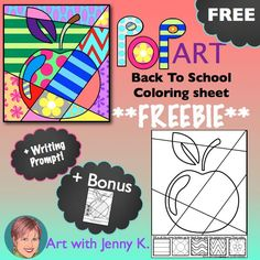 Try one of my popular Interactive Coloring Sheets for Back-to-School! Writing prompt and bonus pattern filled sheets included!