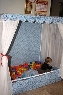 sewing a ball pit