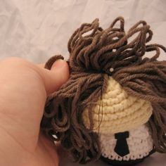 Amigurumi Making and attaching Hair Tutorial