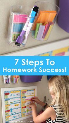 7 Steps to Homework Success!