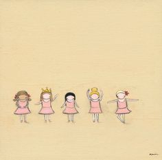 """""""Tiny Dancers"""" kids wall art by Creative Thursday by Marisa for Oopsy daisy, Fine Art for Kids $99"""