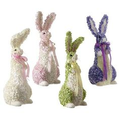 "RAZ 20"" Assorted Hydrangea Bunny Easter Decoration - New Violet Color - $24.99"