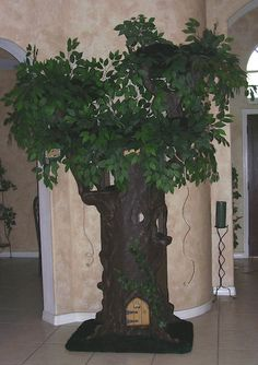 Fantasy Cat Furniture that resembles real Trees. You can Design them to match your own Decor. There is one to fit every lifestyle. Please visit us at www.aHiddenHollow.com
