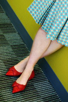 Cute red shoes.