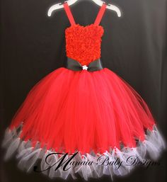 Christmas Tutu Dress / Santa Tutu Dress / Ms by ManaiaBabyDesigns