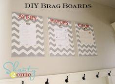 $10 DIY Chevron Brag Boards