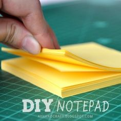 A 3 steps tutorial on how to make your own notepad! and with very few things!