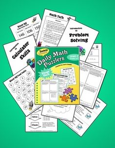 Daily Math Puzzlers Level C (Grades 4 and 5) - What if you could significantly improve your students' problem-solving abilities in just 15 minutes a day? What if your students actually began to look forward to those 15 minutes of problem-solving and even asked you for MORE???? No need to wonder . . . Daily Math Puzzlers is that program! It's a leveled program with 4 levels, A through D. You can preview each level to see which word problems are right for your class. $