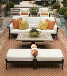 The generous scale and inviting silhouettes of our Sorrento Seating Collection evoke the relaxed warmth of Tuscany.    Atlanta Symphony Orchestra Show House 2014