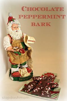 Easy Chocolate Peppermint Bark #Recipe