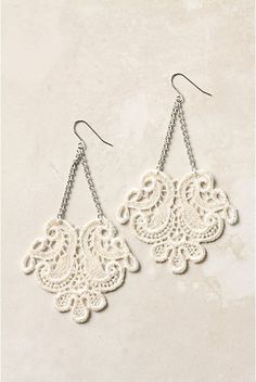 chop up doilies for earrings?