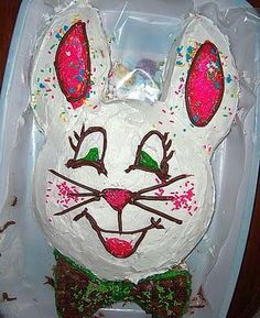 HOW -TO Easter Bunny Cake