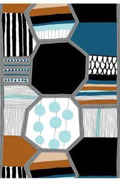 Taapeli cotton fabric by Marimekko