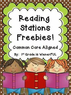 read station, station freebi, reading stations, read to self response, 1st grade