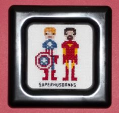Superhusbands Pixel People Cross Stitch by ~chujo-hime on deviantART