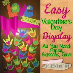 Valentine's Day Bulletin Board/Door for the Craft-Phobic Teacher grade classroom door, bulletin boarddoor, valentine day crafts, teacher, the holiday