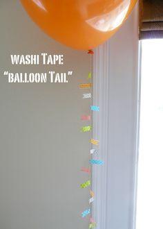 Washi Tape for Parties / Fiestas Washi tape balloon tail.