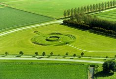 Observatorium (Observatory), 1971-1977. Land art near Lelystad, the Netherlands, by Robert Morris  .