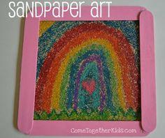 sandpaper art---LOVE this.