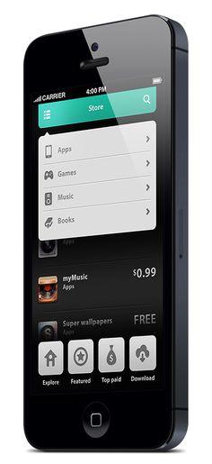 Phone UI Retina - Natalie by Ismail MESBAH, via Behance