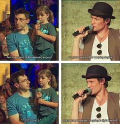 Matt Smith at Comic-Con. This is why he's The Doctor.
