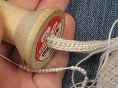 Own Two Hands - Spool knitting with beads hand, bead knitting, craft, neat techniqu, spool knitting with beads, crochet, seed beads, christmas trees, icord