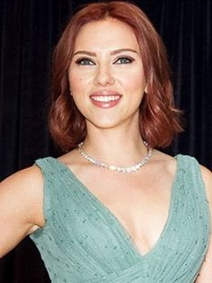 Scarlett Johansson rocks a red hairstyle