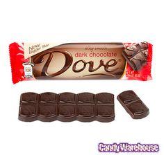 Dove Dark Chocolate Bars: 18-Piece Box