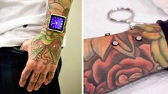 Guy gets Magnets Implanted into his Arm to hold his iPod >> ewww