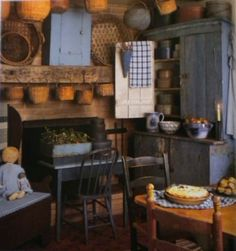 Primitive country kitchens on pinterest 137 pins
