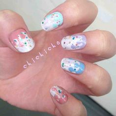 Dripping Paint Nail Art | chichicho~ nail art addicts