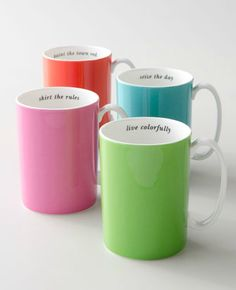 Kate Spade Say The Word Mugs
