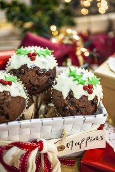 Chocolate Muffin Puddings