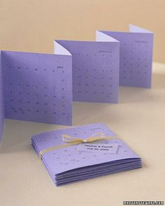 Save the Date Calendar How-To