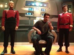 Nathan Fillion on the bridge of the Enterprise with Picard AND Kirk.  Best. Picture. Ever. <3