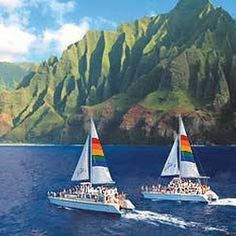 Blue Dolphin Charters sailing the Na Pali Coast of Kauai
