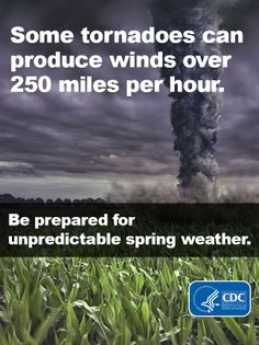 Spring is the time of year when many things change—including the weather. Be prepared for storms, floods, and tornadoes this spring! Learn how: http://ow.ly/jcOY4