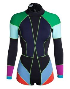 New Cynthia Rowley Womens 2mm Long Sleeve Spring Wetsuit Green