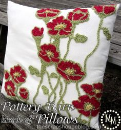 How to make this Pottery Barn Knock-Off Pillows