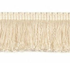 Acrylic Brush Fringe (07112) 2 Inch Vellum by Sunbrella. $17.17. Perfect for enhancing outdoor throw pillows, umbrellas and cushions. Bring the quality and variety of indoor furnishings outdoors to the patio. ACRYLIC FRINGE 2 in. and 3 in. brush fringe, sew in, pull the string and fluff. Can be used for marine and patio throw pillows, or as a decorative umbrella trimming. Put Up: 25 yards per card. Sold per yard in length Quanity of 1 in your cart equals 1 yard. Cut ya...