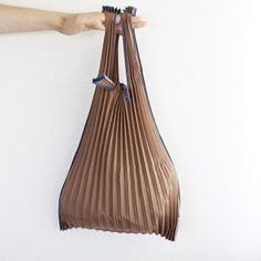 Pleated Eco-Bag {Brown} SMALL