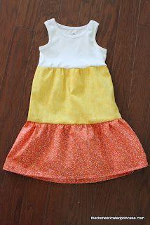 The Domesticated Princess: Candy Corn Dress